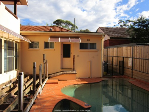 Exterior Renovation - Frenchs Forest - May 2013 - WIP 03 - Old decking and fence removed