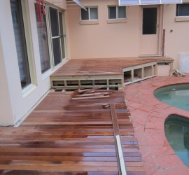 Exterior Renovation - Frenchs Forest - May 2013 - WIP 05 - Adding new decking