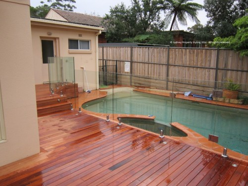 Exterior Renovation - Frenchs Forest - May 2013 - WIP 10 - Clear fencing added