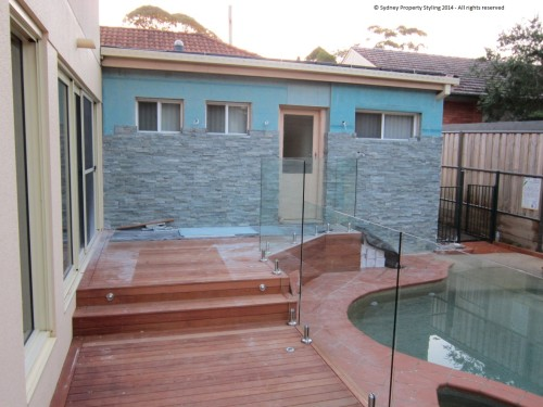 Exterior Renovation - Frenchs Forest - May 2013 - WIP 13 - Adding stone cladding