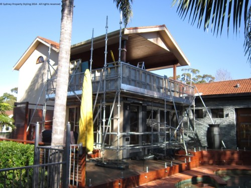 Exterior Renovation - Frenchs Forest - May 2013 - WIP 15 - Preparing balcony for stone cladding