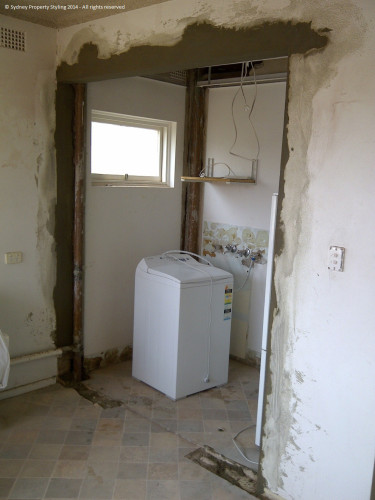 Unit Renovation - Cronulla - February 2014 - WIP 4 - after doorway to laundry widened